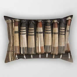 Umbrellas at a ryokan Rectangular Pillow