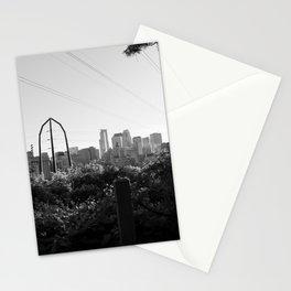 Minneapolis, Minnesota Black and White Skyline | City Photography Stationery Cards