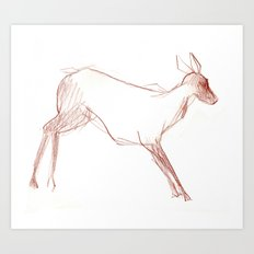 Little Doe Art Print