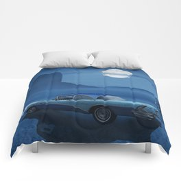 Blue night on Route 66 Comforters