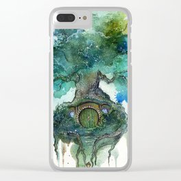 Oak Tree Clear iPhone Case
