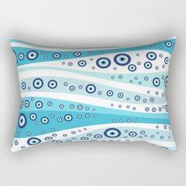 Nazar  - Turkish Eye Wave Ornament #1 Rectangular Pillow