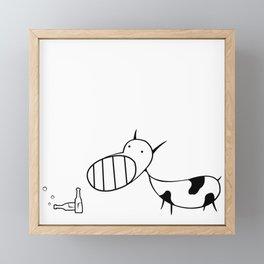 Cow Outline Framed Mini Art Print