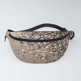 Sparkling Sepia Lady Glitter #1 #shiny #decor #art #society6 Fanny Pack