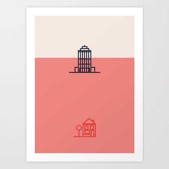 City to Village Art Print