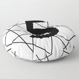 Prime number 5 / minimalist design Floor Pillow