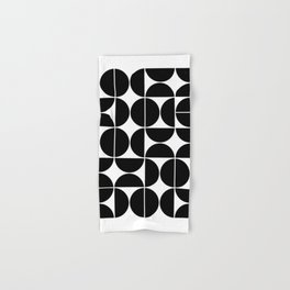 Mid Century Modern Geometric 04 Black Hand & Bath Towel