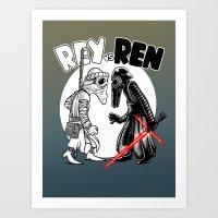 rey vs ren Art Print