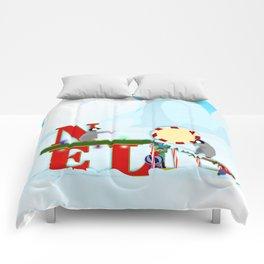 Penquin Chicks: Noel Preparation Comforters