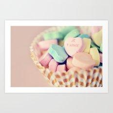 Je T'aime Valentine Art Print