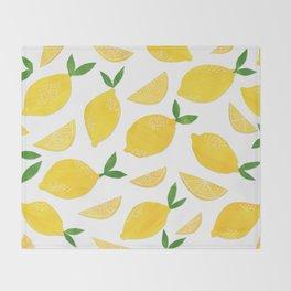 Lemon Cut Out Pattern Throw Blanket