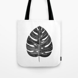 Monstera Leaf | Black and White Tote Bag