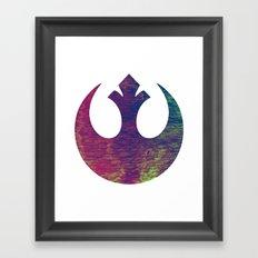 Star Wars Rebel Color Framed Art Print