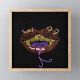 Snake Teeth Finesse Framed Mini Art Print