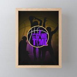 It's Game Time - Purple & Gold Framed Mini Art Print