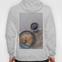 Croissant and black coffee Hoody