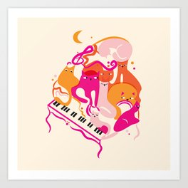 Jazz Cats Art Print