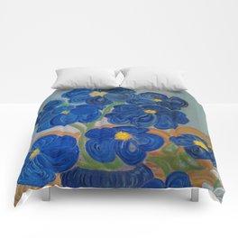 Blue Fleurs Comforters
