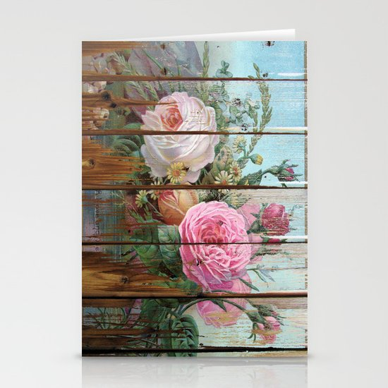 recycled art- rose wood Stationery Cards