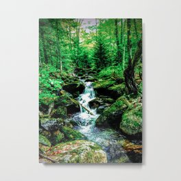 Falling Stream Metal Print