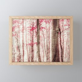 Pink and Brown Fantasy Forest Framed Mini Art Print
