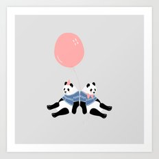 Happy Birthday Panda Art Print