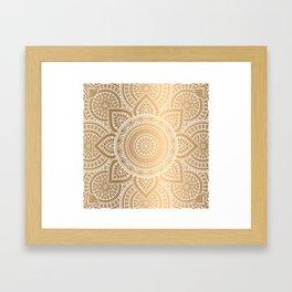 Gold Mandala 3 Framed Art Print