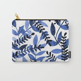 Watercolor branches - blue Carry-All Pouch