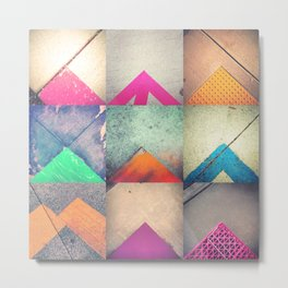 Bright Triangles Metal Print