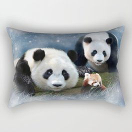 Pandas Rectangular Pillow