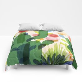 cacti life | Happy modern art | Wall art and  cubicle decor Comforters