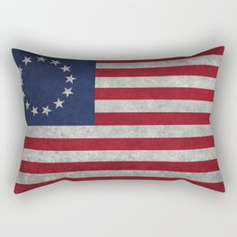 Betsy Ross flag, distressed textures Rectangular Pillow