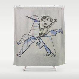 Doodle Boy Shower Curtain