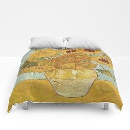 Vincent van Gogh's Sunflowers Comforters