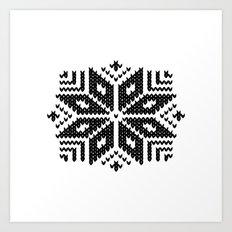 knit flake Art Print