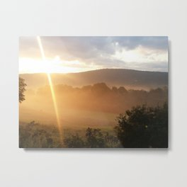 Sunrise Over a Mountain Metal Print