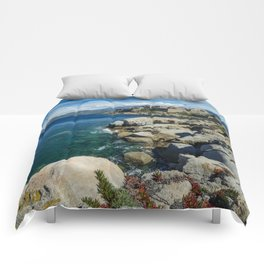 Flowers on the rocks Comforters