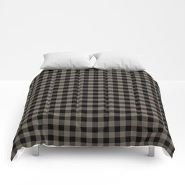 Classic Sandstone Brown Country Cottage Summer Buffalo Plaid Comforters
