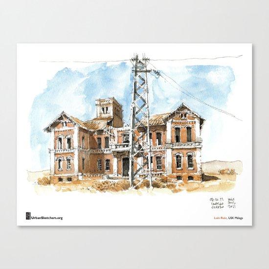 """Luis Ruiz, """"Málaga, Ruined"""" Canvas Print"""