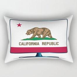 California Flag TV Rectangular Pillow