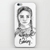 arya stark iPhone & iPod Skins featuring Arya stark by Nicolaine