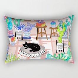 cat in my room illustration 1 Rectangular Pillow
