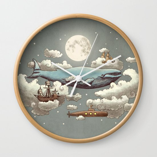 Ocean Meets Sky (original) Wall Clock