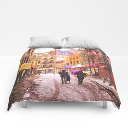 The Colors of Winter - New York City Comforters