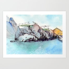A whale of a time in Nusfjord! Art Print