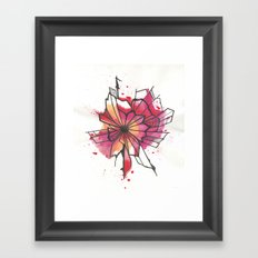 Pink and yellow Flower Explosion  Framed Art Print