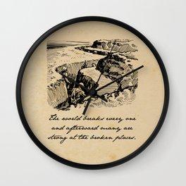 A Farewell to Arms - Hemingway Wall Clock