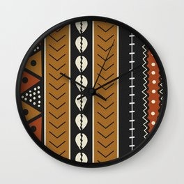 Let's play mudcloth Wall Clock