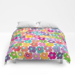 Hippy Dippy Happy Flowrs Comforters