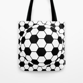 Black and White 3D Ball pattern deign Tote Bag